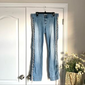 Andrew Charles Lace Up Side Jeans